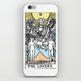 Modern Tarot Design - 6 The Lovers iPhone Skin