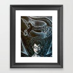 Consumed by Darkness Framed Art Print