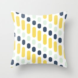 Hello Sunshine Dots and Dashes Throw Pillow