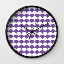 Purple Clamshell Pattern Wall Clock