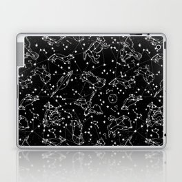 Constellations animal constellations stars outer space night sky pattern by andrea lauren black Laptop & iPad Skin