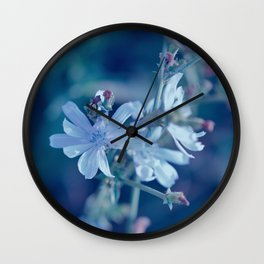 Blue On Blue Wall Clock