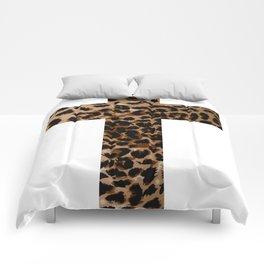 Leopard Cross (White) Comforters