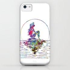 The Little Mermaid Ariel Silhouette Watercolor iPhone 5c Slim Case