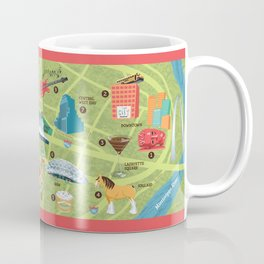 Illustrated Map of St. Louis Coffee Mug