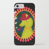 the hound iPhone & iPod Cases featuring smoking hound by Elisandra