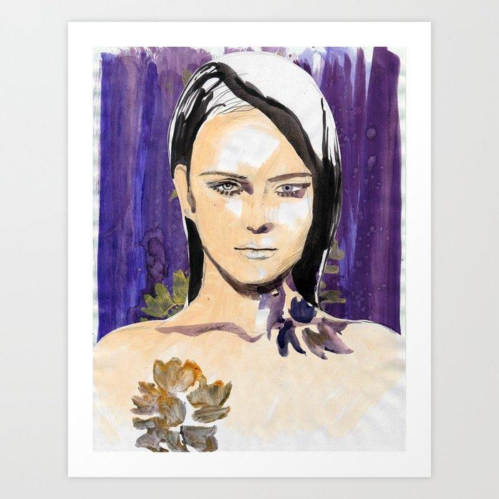 Purple beauty fashion lllustration Art Print