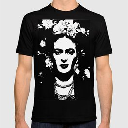 Black 'n white Frida T-shirt