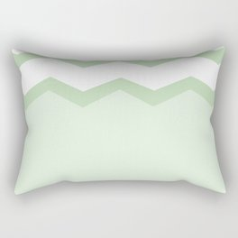 Geometric abstract - zigzag, green and white. Rectangular Pillow