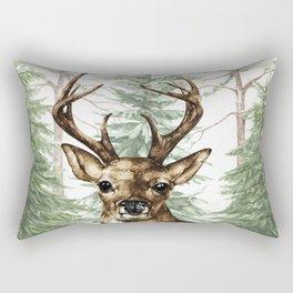 Woodland Deer Rectangular Pillow