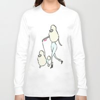 poodle Long Sleeve T-shirts featuring Proudly Poodle by miba