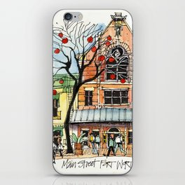 Main Street Fort Worth at Christmastime iPhone Skin