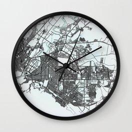 Torreón, Coahuila, Mexico, White, City, Map Wall Clock