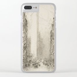 Vintage Flatiron Building, NYC - Childe Hassam, 1916 Clear iPhone Case