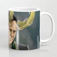 loki Mugs featuring Loki by toibi