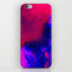 02-14-36 (Red Blue Glitch) iPhone & iPod Skin