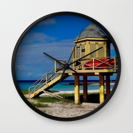 Caribbean lifeguard station Wall Clock
