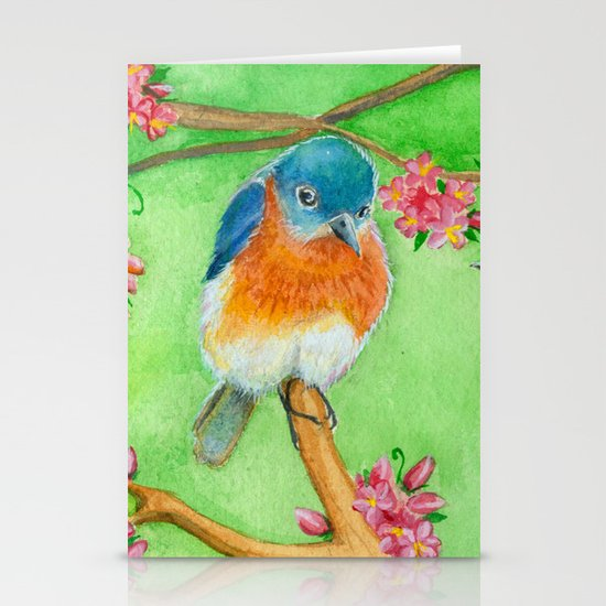 Bluebirds Stationery Cards