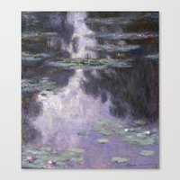 monet Canvas Prints featuring Monet by Palazzo Art Gallery