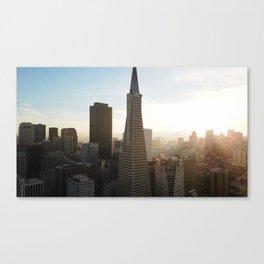 San Francisco Downtown Sunset View Canvas Print