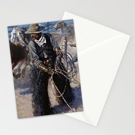"""""""Roping in the Corral"""" by NC Wyeth Stationery Cards"""