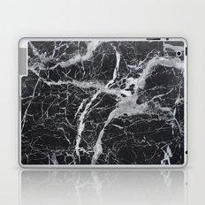 Marble - black and white Laptop & iPad Skin