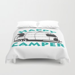 Happy Camper Airstream Duvet Cover