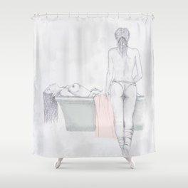 Figures Shower Curtain