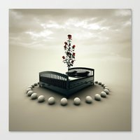bed Canvas Prints featuring Bed by Pedro Alvarez