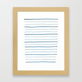 Thick and Thin Framed Art Print