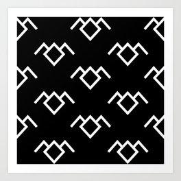 Twin Peaks Owl Petroglyph in Black Lodge Art Print