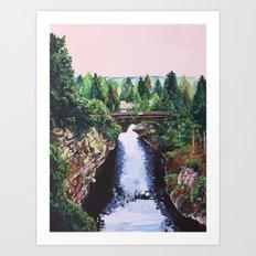 Mystic Bridge Art Print