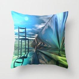 Der leere Stuhl Throw Pillow
