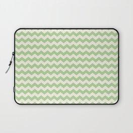 Summer Chevron Pattern in Green & Cream Laptop Sleeve