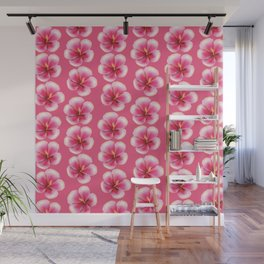 Pink hibiscus Wall Mural