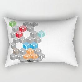 Isometric confusion Rectangular Pillow