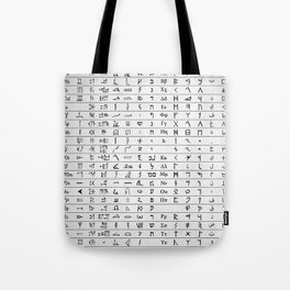 Ancient And Mystical Alphabets Tote Bag