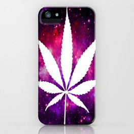 Weed : High Times Fuchsia Pink Purple Galaxy iPhone Case
