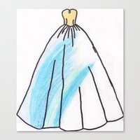 ravenclaw Canvas Prints featuring Ravenclaw Dress by AlwaysRiverose