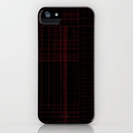 Red Square iPhone Case