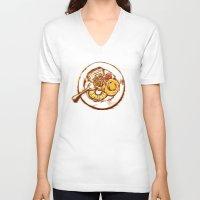 dessert V-neck T-shirts featuring Dessert by EGARCIGU