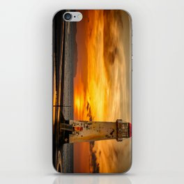 Sunset At The Lighthouse iPhone Skin