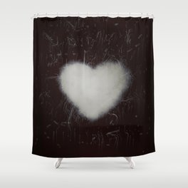 Handle with care b/n Shower Curtain