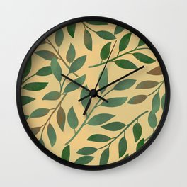 Colored leaves pattern Wall Clock