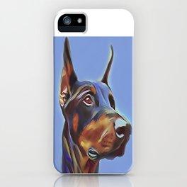 Blue Doberman iPhone Case