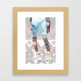 the pants. Framed Art Print