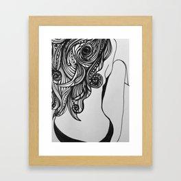Back turned Framed Art Print