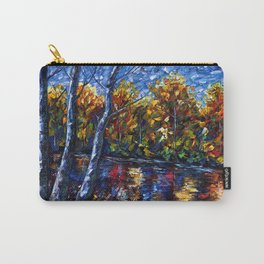 Autumn Forest River  (Palette Knife) Carry-All Pouch