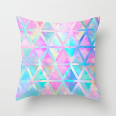 Pink pastel aztec pattern Throw Pillow