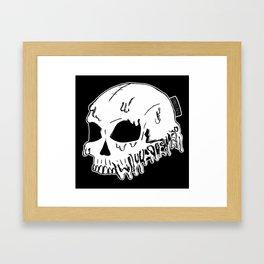 Dripping With Sarcasm - White bye zombieCraig Framed Art Print